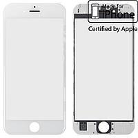 Защитное стекло корпуса для Apple iPhone 6S, с рамкой, с OCA-пленкой, оригинал (белое)