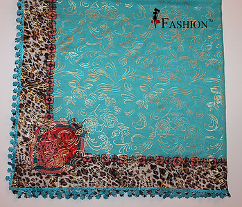 Женский платок Весна Голубой