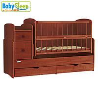 Кроватка-трансформер Baby Sleep - Angela Mahagoni