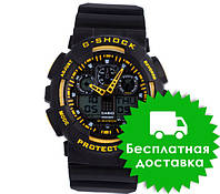 Часы Casio G-Shock GA-100 Black-Yellow