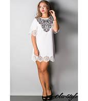 Молодежное белое платье Шедевр  Olis-Style 44-52 размеры