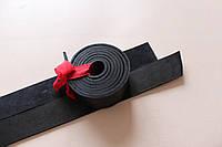 Полосы натуральной кожи для ремней и ошейников не обработанные черные, толщина 3.4 мм, арт. СКУ 9002.1609