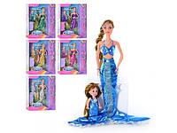 Кукла русалки DEFA с дочкой, 2 вида, аксессуары, в коробке, 33-27-6см