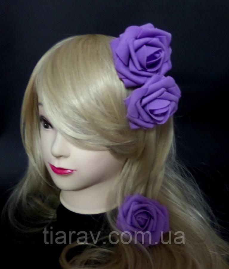 Цветы для волос розы 8 см для прически