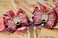Нежные розовые бантики для девочки