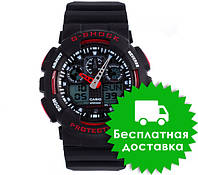 Часы Casio G-Shock GA-100 BLACK RED