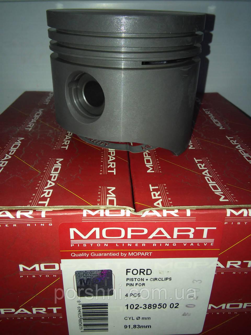 Поршневая Форд Сиерра  90,8 + 1    (  2 х 2.5 х 4 )  Mopart  389502  без колец