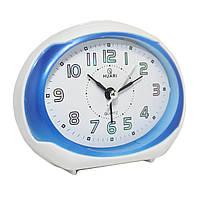 Будильник №8030 часы настольные с подсветкой (синий)