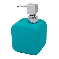Дозатор для жидкого мыла Trento Cubo голубой