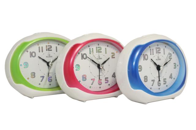 Будильник №8030 часы настольные с подсветкой (красный)