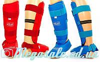 Защита голени с футами для единоборств ZEL 3719: PU, L/XL