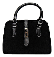 Стильная женская сумка черного цвета  WRQ-160001