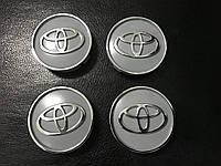 Toyota Yaris 2006-2012 гг. Колпачки в титановые диски V1, 55мм (4 шт)