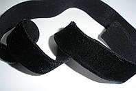 Резинка бархатная черная 15мм ширина
