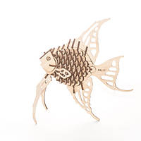"""Развивающий деревянный конструктор 3D пазл """"Рыбка"""" (оригинальная сборная объемная модель из дерева)"""