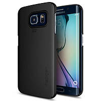 Чехол Spigen для Samsung S6 Edge Thin Fit, Smooth Black, фото 1