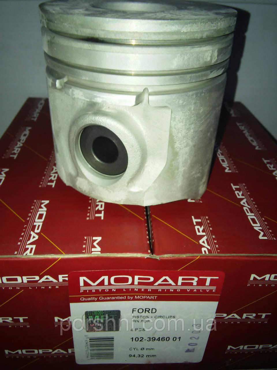 Поршневая  93.67 + 0.65 Ford Transit  2.5 D  89 --   2.5 x 2 x 4    Mopart 394601