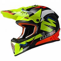 Кроссовый шлем LS2 MX437 Fast Volt