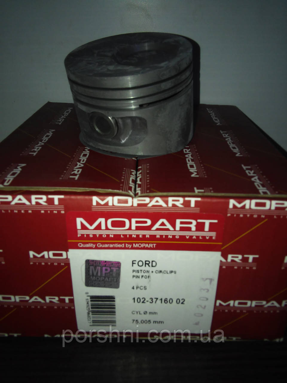 Поршневая  73,94 + 0.50 Ford  Escort 1,3 OHV  89 -- м.инж    Mopart  371601 без кол