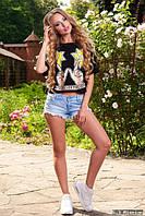 Молодежная женская футболка у-06181