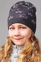 Стильная шапка для девочки Стар, размер 52-56 см