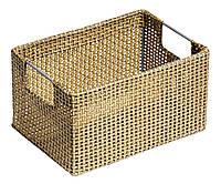 Ящик плетенный  с ручками для хранения