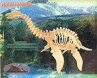 Деревянная игрушка - плезиозавр, 3D модель (4 пластины)