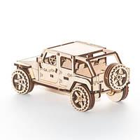 """Развивающий деревянный конструктор 3D пазл """"Джип"""" (оригинальная сборная объемная модель из дерева)"""