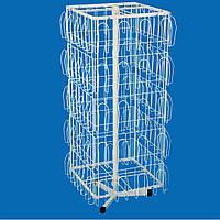 Стойка-вертушка квадратная с прижимными карманами