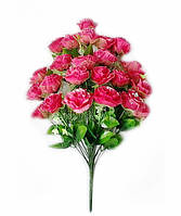 Букет искусственных цветов Роза-24 каскадная гофре с вуалью и добавками , 60 см, фото 1