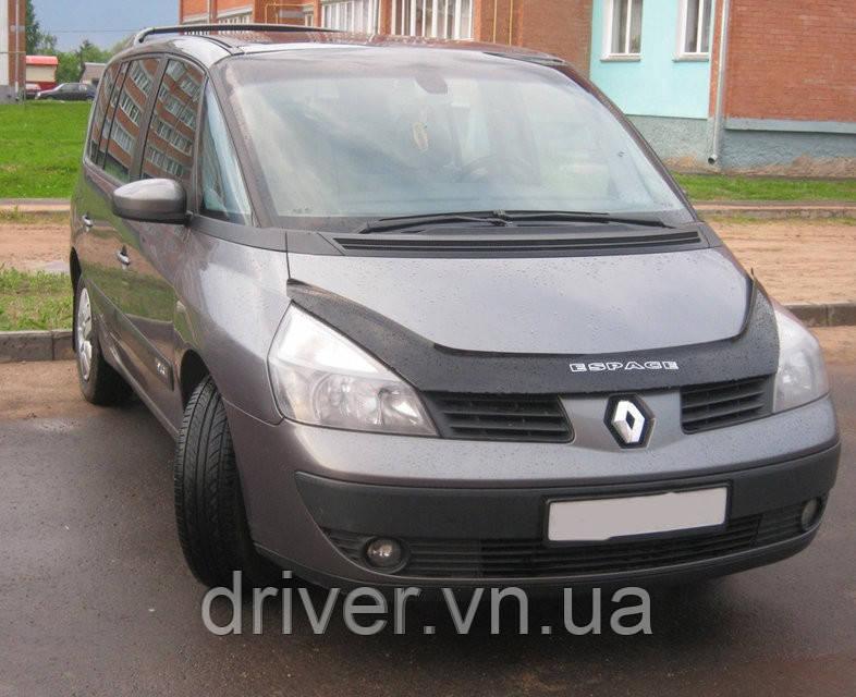 Дефлектор капота (мухобойка) Renault Espace (J81) 2002-