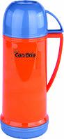 Вакуумный термос оранжевый со стеклянной колбой 450 мл Con Brio CB - 350