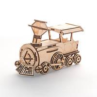 """Развивающий деревянный конструктор 3D пазл """"Поезд"""" (оригинальная сборная объемная модель из дерева), фото 1"""