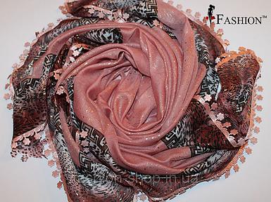 Женский платок Весна Терракота