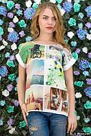 Женская футболка свободного кроя  у-06184