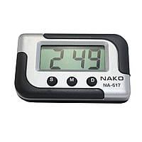 """Часы электронные """"NA-617"""" авточасы"""