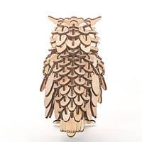 """Развивающий деревянный конструктор 3D пазл """"Сова"""" (оригинальная сборная объемная модель из дерева)"""