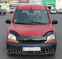 Дефлектор капота (мухобойка) Renault Kangoo 1997-2003 , на крепежах