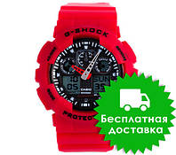 Часы Casio G-Shock GA-100 RED BLACK