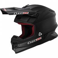 Кроссовый шлем LS2 MX456 Solid Black Matt