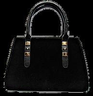 Симпатичная женская сумка черного цвета  VQV-130122