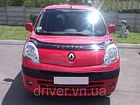 Дефлектор капота (мухобойка) Renault Kangoo 2008-2013 , на крепежах