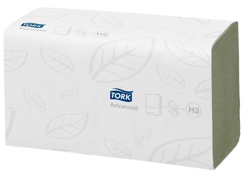 Tork Advanced бумажные зеленый листовые полотенца сложение ZZ