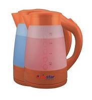 Электрический пластиковый чайник LivStar LSU-1138 с подсветкой, дисковый нагреватель, 1,8 л, 2200 Вт