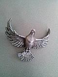 Декор для памятника Голубь полимер 16*14*8 см, фото 2