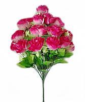 Букет искусственных цветов Роза каскадная ( гофрированная, с вуалью и добавками),50 см