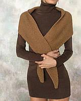 Удлиненная водолазка/ мини платье коричневая