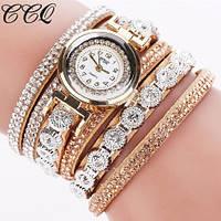 Женские наручные часы-браслет со стразами, фото 1