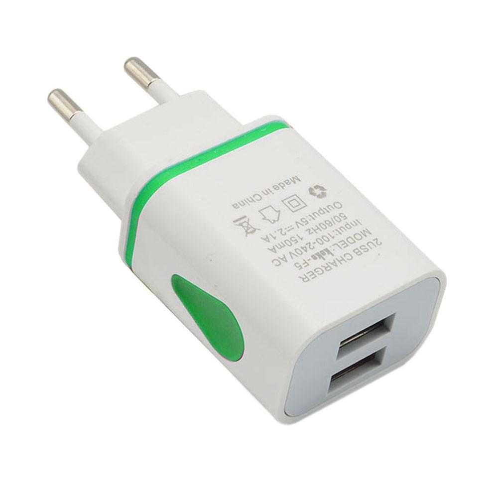 Зарядное Устройство Адаптер LED USB 2 Порта
