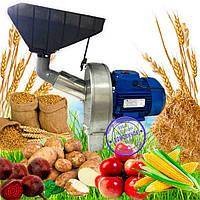Кормоизмельчитель Эликор-1, исполнение-8 нержавейка (зернодробилка, яблокорезка, овощерезка, кукурузодробилка)